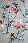 antique textile asian floral